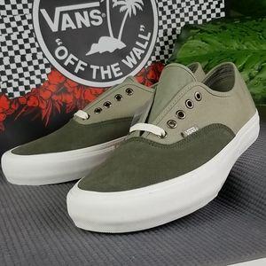 Van Authentic Pro Mens Skate Shoes Green Suede 11